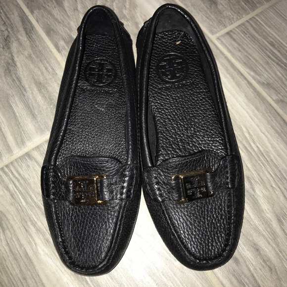 Tory Burch Black Leather Loafers